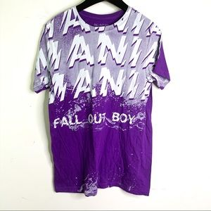 Fall Out Boy Purplr Mania Band Graphic Tee